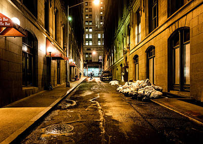 Photograph - Dark Street by M G Whittingham