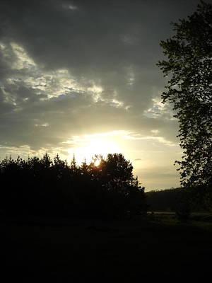 Photograph - Dark Sunrise Behind Pines by Kent Lorentzen