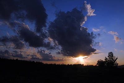 Photograph - Dark Sunset 2 by Isam Awad