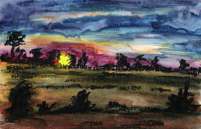 Painting - Dark Sunset by R Kyllo