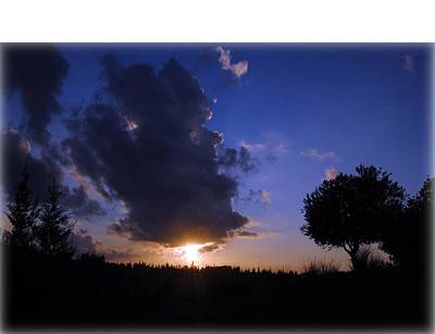Photograph - Dark Sunset T-shirt 2 by Isam Awad