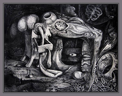 Drawing - Dark Surprise by Otto Rapp