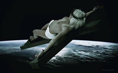 Christ On Cross Photograph - Dark Tellus V by Ramon Martinez