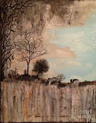 Dark Textured Landscape Art Print