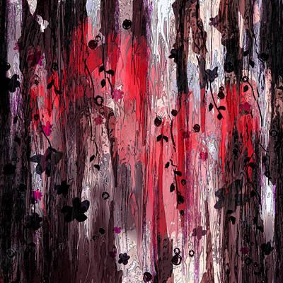 Psychological Digital Art - Dark Thoughts . . . Near The Edge by Rachel Christine Nowicki