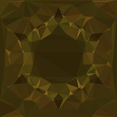 Digital Art - Dark Tone Triangle Mirror Art Color Design  by Sheila Mcdonald