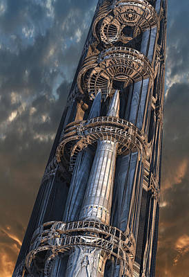 Digital Art - Dark Tower by Hal Tenny