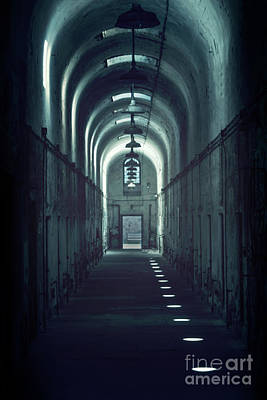 Eastern State Penitentiary Wall Art - Photograph - Dark Tunnels by Evelina Kremsdorf