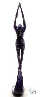 Lithe Sculpture - Dark Violet Matter Back View by Adam Long