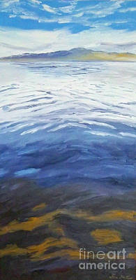 Painting - Dark Water, White Wave by Jeni Bate