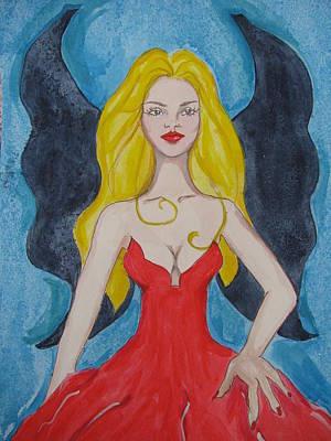 Dark Wings II Art Print by Lindie Racz