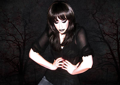 Manic Depression Photograph - Dark Winter - Self Portrait by Jaeda DeWalt