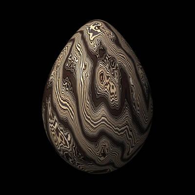 Wood Digital Art - Dark Wooden Egg by Hakon Soreide