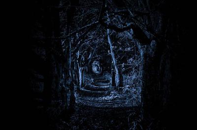 Greenman Photograph - Dark Woodland Way. A Dark Eerie Fine Art Photographic Print by Lee Thornberry