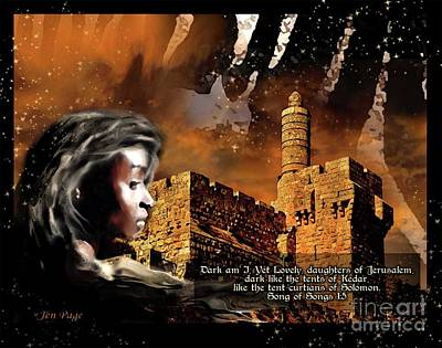 Digital Art - Dark Yet Lovely by Jennifer Page