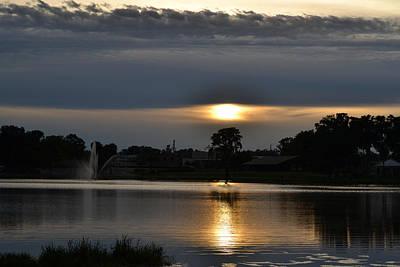 Photograph - Darkened Sunset by rd Erickson