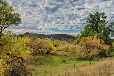 Photograph - Darkening Skies Over An Autumn Landscape by John M Bailey