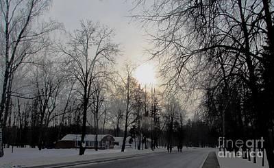 Photograph - Darkening Sunset by Anna Yurasovsky