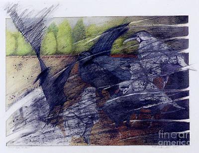 Drawing - Darkest Before the Dawn by Ceilon Aspensen