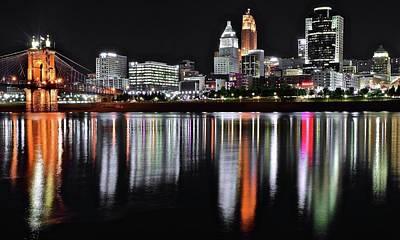 Photograph - Darkest Night In Cincinnati by Frozen in Time Fine Art Photography