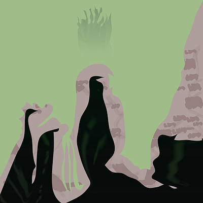 Lurk Digital Art - Darkflicker by Kevin McLaughlin