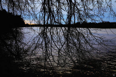 Photograph - Darkness By The River by John Meader