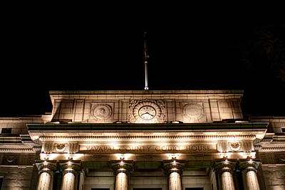Prescott Photograph - Darkness Falls On The Courthouse by Austin Troya