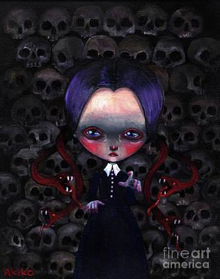 Painting - Darkness Halloween by Akiko Okabe