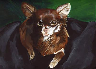 Painting - Darla Chihuahua  by Sara Stevenson