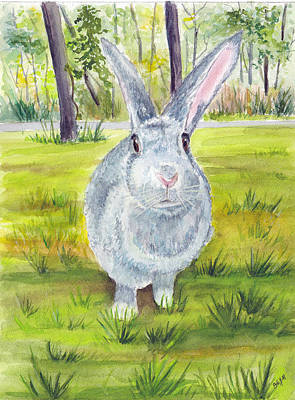Painting - Darla The Bunny by Clara Sue Beym