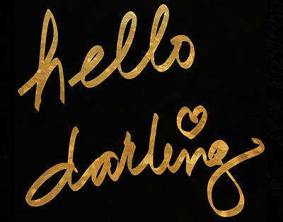 Text Painting - Darling Bella I by South Social Studio