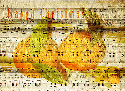 Digital Art - Darling Clementines For Christmas by Sarah Vernon