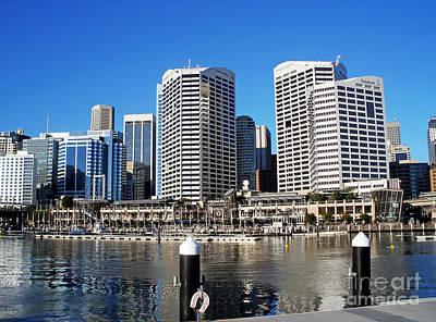 Sydney Skyline Photograph - Darling Harbour Sydney Australia by Kaye Menner