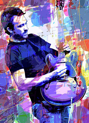 Painting - Darren Glover - Blues Note by David Lloyd Glover