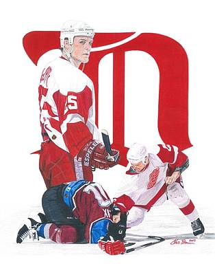 Drawing - Darren Mccarty by Chris Brown