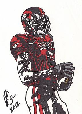 Razorback Drawing - Darren Mcfadden 3 by Jeremiah Colley