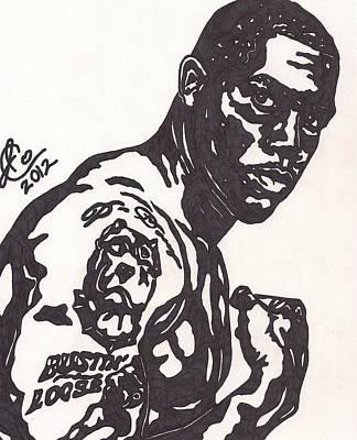 Oakland Raiders Drawing - Darren Mcfadden 4 by Jeremiah Colley