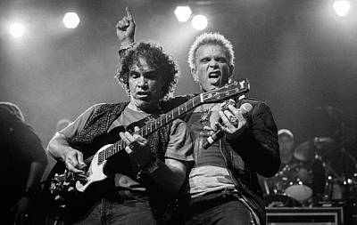 Photograph - Darryl Hall And Billy Idol Perform During The Superjam At Bonnar by Anna Webber