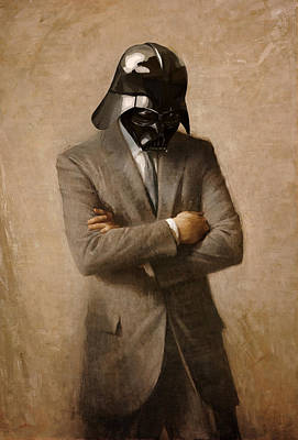 Vader Digital Art - Darth Kennedy by Mitch Boyce