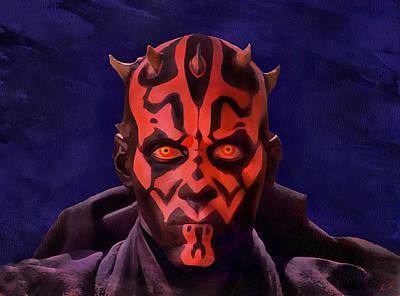 Darth Maul Dark Lord Of The Sith Art Print