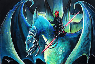 Darth Maul The Witch King Original by Tom Carlton