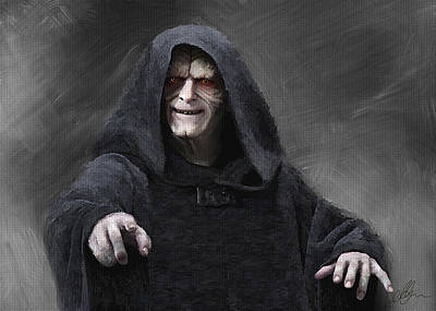 Darth Vader Painting - Darth Sidious, Palpatine by Michael Greenaway