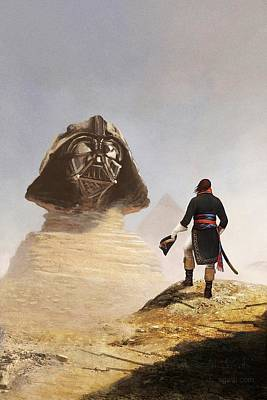 Napoleon Bonaparte Digital Art - Darth Sphinx 3 by Andrea Gatti