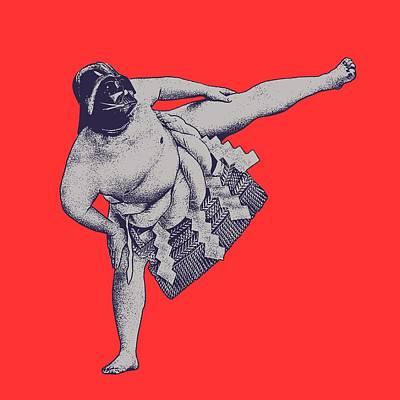 Sumo Digital Art - Darth Sumo by Mandy Kulkarni