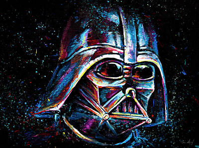 Painting - Darth Vader by Aaron Spong