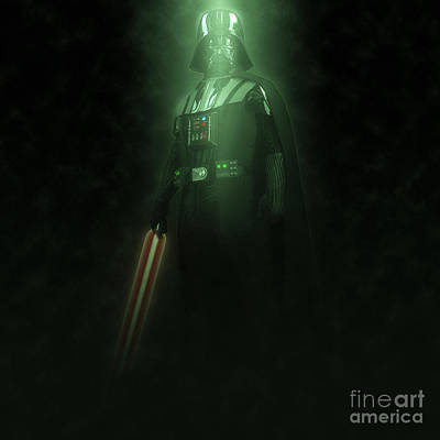 Digitally Created Photograph - Darth Vader Action Figure  by Humorous Quotes