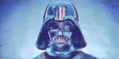 Darth Vader Blues Art Print