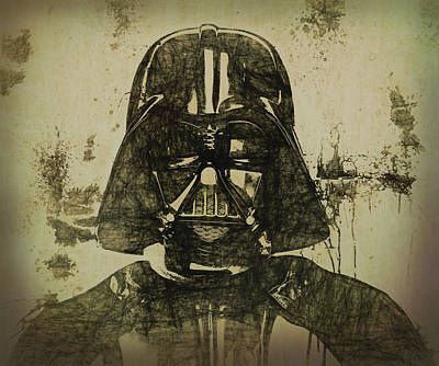 Science Fiction Mixed Media - Darth Vader Grunge by Dan Sproul