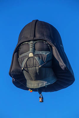 Envelopes Photograph - Darth Vader Helmet Hot Air Balloon by Garry Gay