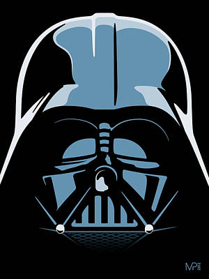 Blue Digital Art - Darth Vader by IKONOGRAPHI Art and Design